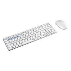 Комплект (клавиатура+мышь) RAPOO 9300M, USB, беспроводной, белый [18479]