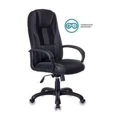 Кресло игровое БЮРОКРАТ VIKING-9, на колесиках, искусственная кожа/ткань, черный/серый [viking-9/black]