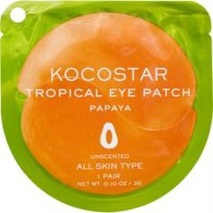 Уход за кожей лица Патчи для глаз KOCOSTAR Tropical Eye Patch Тропические фрукты Папайя 1 пара