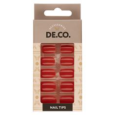 Набор накладных ногтей DE.CO. VIVID fiesta 24 шт+ клеевые стикеры 24 шт Deco
