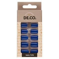 Набор накладных ногтей DE.CO. VIVID princess blue 24 шт+ клеевые стикеры 24 шт Deco
