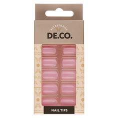 Набор накладных ногтей DE.CO. VIVID sweet lilac 24 шт+ клеевые стикеры 24 шт Deco