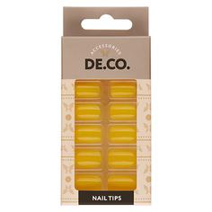 Набор накладных ногтей DE.CO. VIVID aspen gold 24 шт+ клеевые стикеры 24 шт Deco