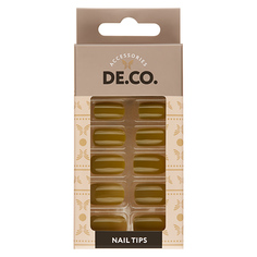 Набор накладных ногтей DE.CO. VIVID pepper stem 24 шт+ клеевые стикеры 24 шт Deco