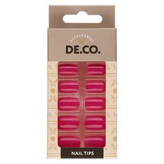 Набор накладных ногтей DE.CO. NEON violet 24 шт+ клеевые стикеры 24 шт Deco