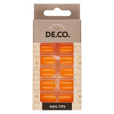 Набор накладных ногтей DE.CO. VIVID turmeric 24 шт+ клеевые стикеры 24 шт Deco