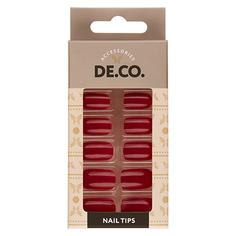 Набор накладных ногтей DE.CO. VIVID pink peacock 24 шт+ клеевые стикеры 24 шт Deco