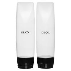 Набор дорожных флаконов DE.CO. 2 шт флип-топ Deco