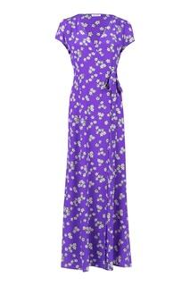 Фиолетовое платье-макси с цветочным узором P.A.R.O.S.H.