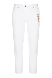 Белые джинсы с декором Escada