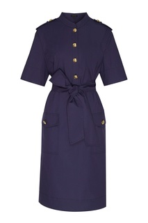 Фиолетовое платье на пуговицах Escada