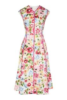 Розовое платье без рукавов Escada
