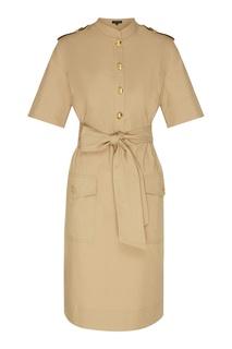 Платье цвета хаки Escada