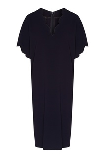 Темно-синее платье с декором Escada