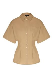 Рубашка цвета хаки Escada