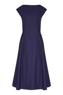 Короткое фиолетовое платье на молнии Escada
