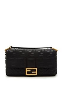 Черная сумка Baguette Fendi