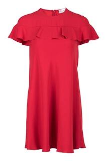 Красное платье-мини с воланами Red Valentino
