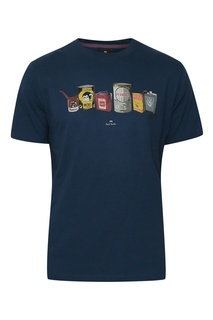 Хлопковая футболка с принтом Paul Smith