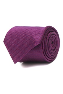 Бордовый шелковый галстук Etro