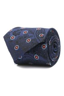 Синий галстук с комбинированным узором Etro