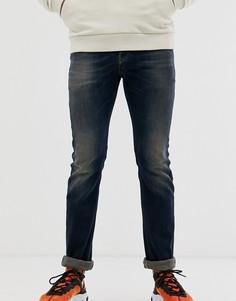 Темно-выбеленные прямые джинсы Diesel Safado-X 0890Z - Синий
