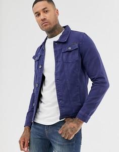 Джинсовая куртка цвета индиго Liquor N Poker - Темно-синий