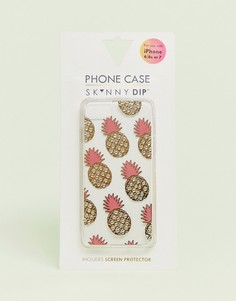 Чехол для iPhone 6/6s/7/8 с ананасом Skinnydip - Желтый