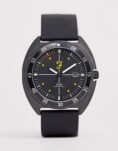 Наручные часы с черным силиконовым ремешком Farah - Черный