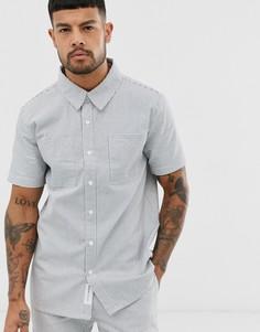 Белая рубашка в полоску с короткими рукавами Native Youth - Белый