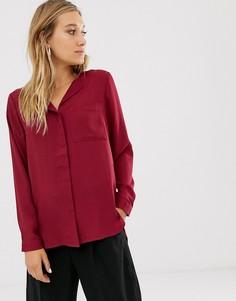 Рубашка с длинными рукавами Selected - Красный