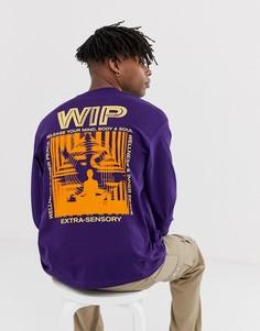 Фиолетовая футболка с длинными рукавами и принтом Mind на спине Carhartt WIP - Фиолетовый