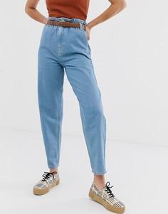 Мягкие светлые джинсы с эластичной присборенной талией ASOS DESIGN - Синий