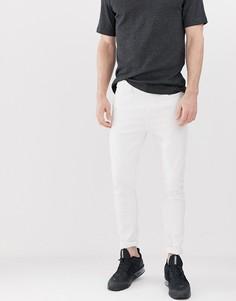 Белые супероблегающие джинсы Bershka - Белый