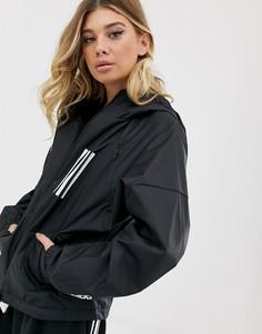 Черная куртка с тремя полосками adidas Training - Черный