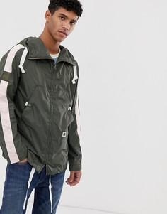 Легкая куртка цвета хаки с отделкой лентой Pretty Green - Зеленый