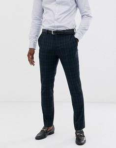 Темно-синие брюки в клетку Selected Homme - Темно-синий