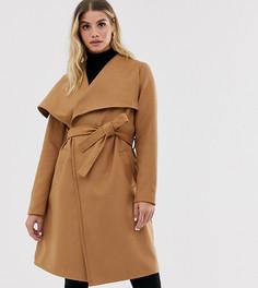 Пальто с запахом JDY - Коричневый