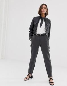 Строгие брюки Selected Amila - Серый