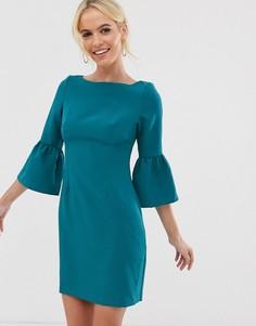 Платье с расклешенными рукавами Vesper - Синий