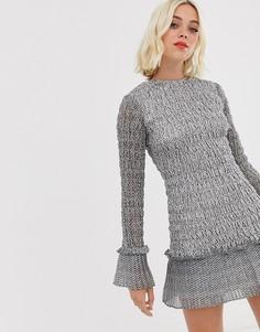 Присборенное платье мини Stevie May Аmore - Черный