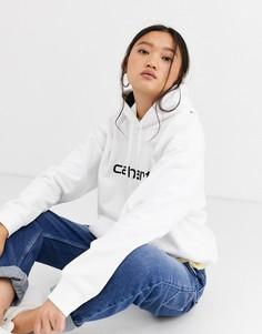 Белое худи с большим логотипом Carhartt WIP - Белый