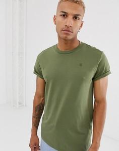 Свободная футболка цвета хаки G-Star Shelo - Зеленый