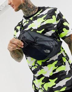 Черно-серая сумка-кошелек на пояс The North Face Lumbnical L - Серый