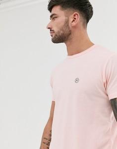 Длинная футболка с необработанными краями Le Breve - Розовый