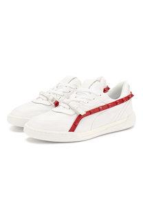 Кожаные кроссовки Valentino Garavani Rockstud Armour Valentino
