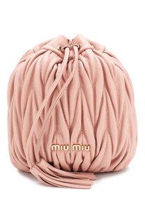 Рюкзак из кожи Miu Miu
