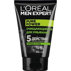 LORÉAL PARIS Очищающий Гель для умывания Men Expert 5 действий против проблем кожи с черным углем