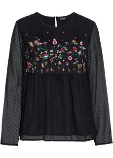 Блузки с длинным рукавом Блузка с вышивкой Bonprix