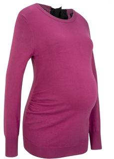 Кофты и кардиганы Пуловер с бантом для беременных Bonprix